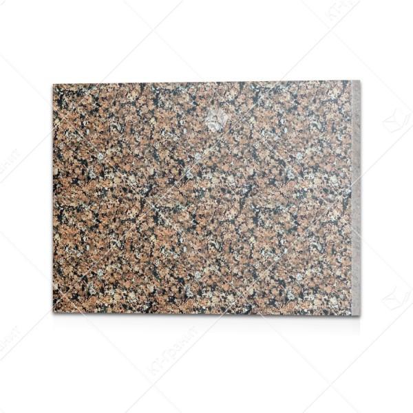 Плитка полированная  из межериченского гранита (h = 3 см)