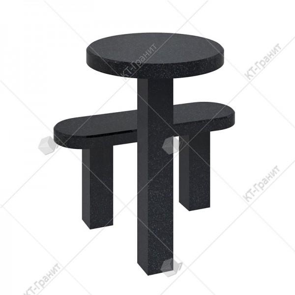 Стол с лавочкой  из гранита. Модель LS12