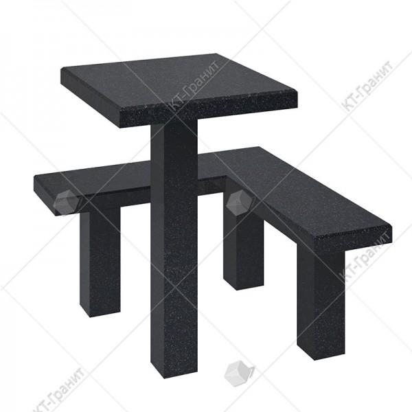Стол с лавочкой  из гранита. Модель LS14