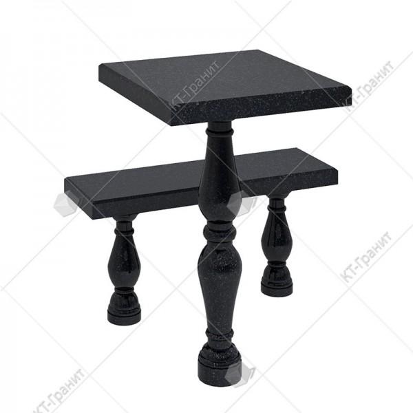 Стол с лавочкой  из гранита. Модель LS15