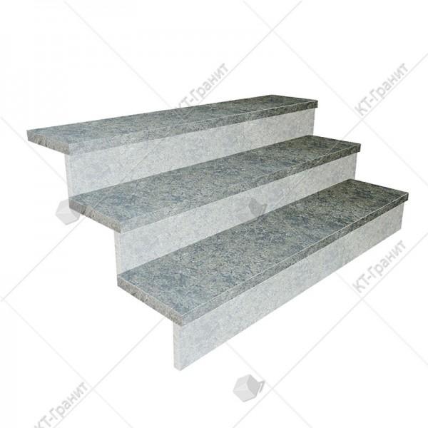 Гранитные термообработанные накладные ступени из роговского гранита,  толщина  3 см