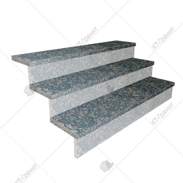 Гранитные полированные накладные ступени из корнинского гранита,  толщина  3 см