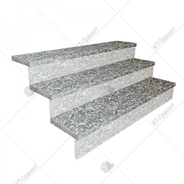 Гранитные полированные накладные ступени из софиевского гранита,  толщина  3 см