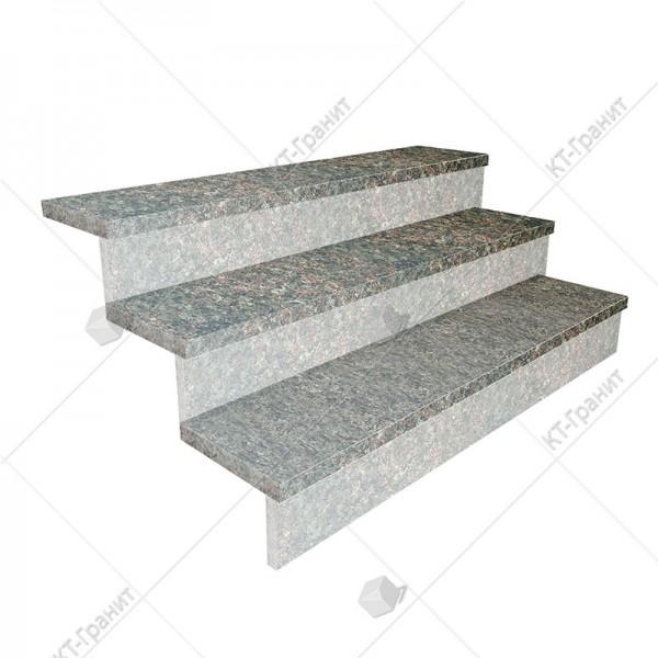 Гранитные термообработанные накладные ступени из васильевского гранита,  толщина  3 см